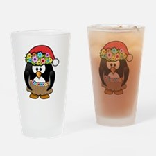Christmas In Summer Penguin Drinking Glass