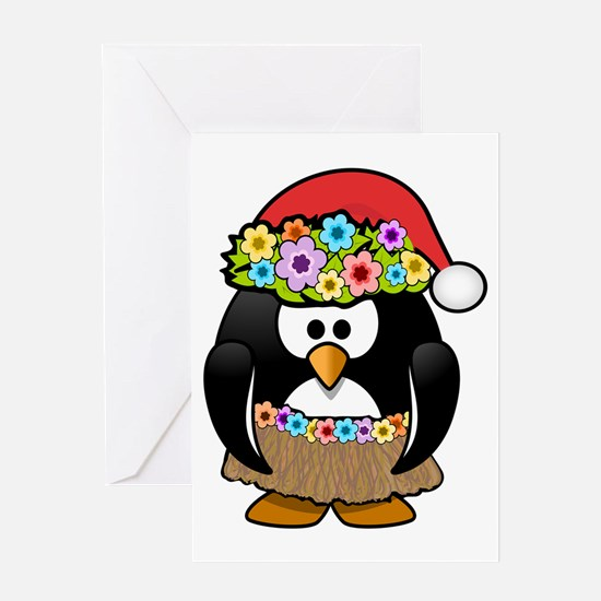 Christmas In Summer Penguin Greeting Cards