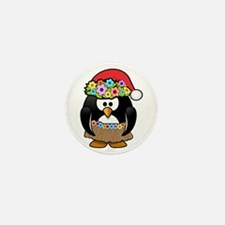 Christmas In Summer Penguin Mini Button