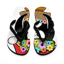 Christmas In Summer Penguin Flip Flops