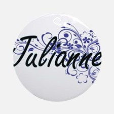 Julianne Artistic Name Design with Round Ornament