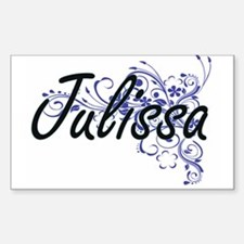 Julissa Artistic Name Design with Flowers Decal