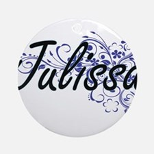 Julissa Artistic Name Design with F Round Ornament