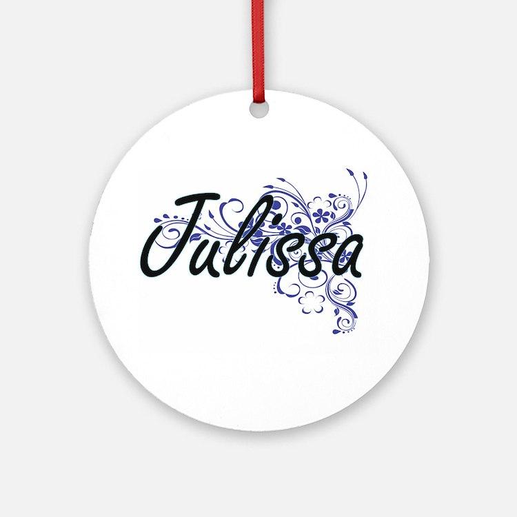Julissa Artistic Name Design with F Round Ornament