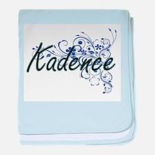 Kadence Artistic Name Design with Flo baby blanket