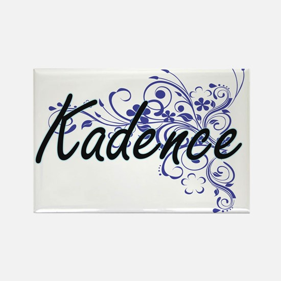 Kadence Artistic Name Design with Flowers Magnets