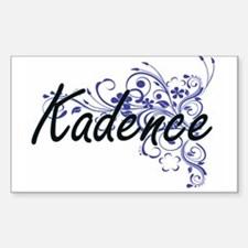 Kadence Artistic Name Design with Flowers Decal