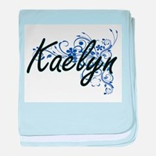 Kaelyn Artistic Name Design with Flow baby blanket
