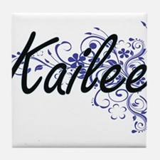Kailee Artistic Name Design with Flow Tile Coaster