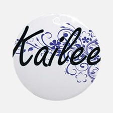 Kailee Artistic Name Design with Fl Round Ornament