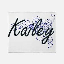 Kailey Artistic Name Design with Flo Throw Blanket