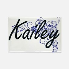 Kailey Artistic Name Design with Flowers Magnets