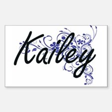 Kailey Artistic Name Design with Flowers Decal