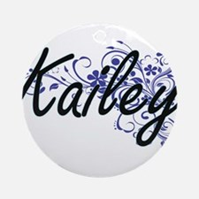 Kailey Artistic Name Design with Fl Round Ornament