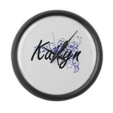 Kailyn Artistic Name Design with Large Wall Clock