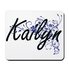 Kailyn Artistic Name Design with Flowers Mousepad