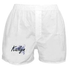 Kailyn Artistic Name Design with Flow Boxer Shorts