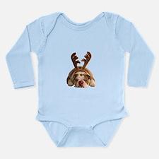 Christmas Reindeer Bulldog Body Suit