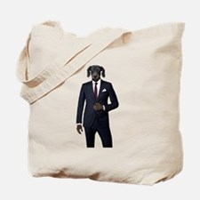 Bronnie in a suit Tote Bag