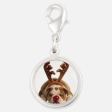 Christmas Reindeer Bulldog Charms