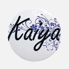 Kaiya Artistic Name Design with Flo Round Ornament