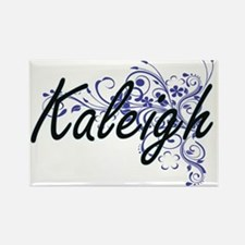 Kaleigh Artistic Name Design with Flowers Magnets