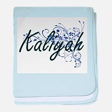 Kaliyah Artistic Name Design with Flo baby blanket