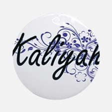 Kaliyah Artistic Name Design with F Round Ornament
