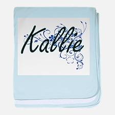 Kallie Artistic Name Design with Flow baby blanket