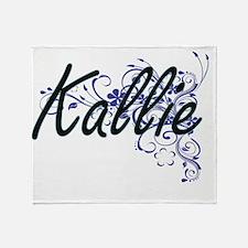 Kallie Artistic Name Design with Flo Throw Blanket