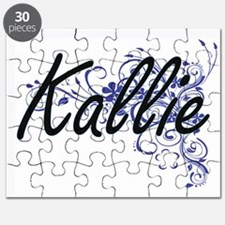 Kallie Artistic Name Design with Flowers Puzzle