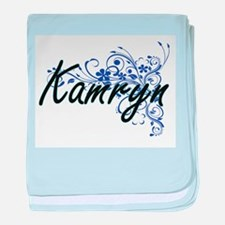 Kamryn Artistic Name Design with Flow baby blanket