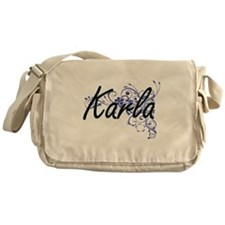 Karla Artistic Name Design with Flow Messenger Bag