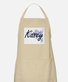 Kasey Artistic Name Design with Flowers Apron