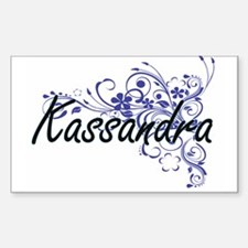 Kassandra Artistic Name Design with Flower Decal