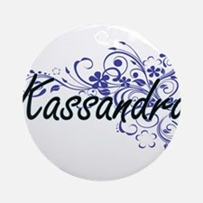 Kassandra Artistic Name Design with Round Ornament