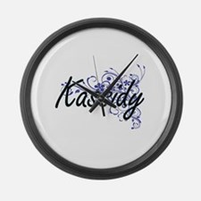 Kassidy Artistic Name Design with Large Wall Clock