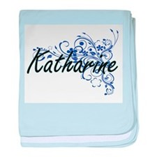 Katharine Artistic Name Design with F baby blanket