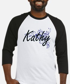 Kathy Artistic Name Design with Fl Baseball Jersey
