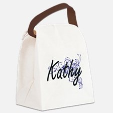 Kathy Artistic Name Design with F Canvas Lunch Bag