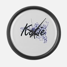 Katie Artistic Name Design with F Large Wall Clock