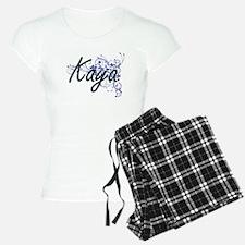 Kaya Artistic Name Design w Pajamas