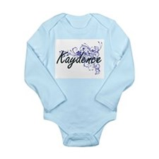 Kaydence Artistic Name Design with Flowe Body Suit