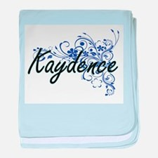 Kaydence Artistic Name Design with Fl baby blanket