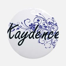 Kaydence Artistic Name Design with Round Ornament
