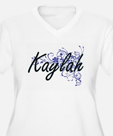 Kaylah Artistic Name Design with Plus Size T-Shirt