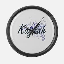 Kaylah Artistic Name Design with Large Wall Clock