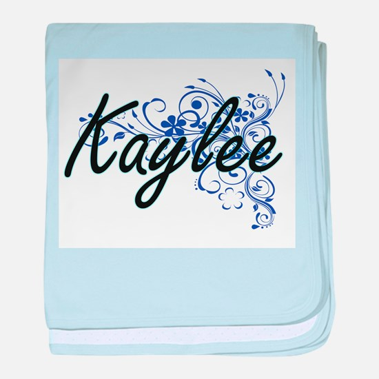 Kaylee Artistic Name Design with Flow baby blanket