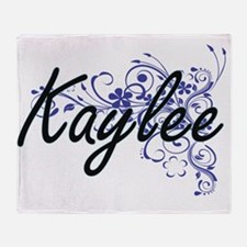 Kaylee Artistic Name Design with Flo Throw Blanket