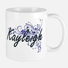 Kayleigh Artistic Name Design with Flowers Mugs